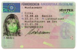 Deutsche EU-Führerscheinkarte - Layout 2013 - Vorderseite