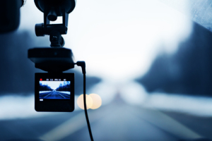 Image of car video recorder in action