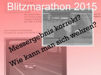 Erwischt vom Blitzmarathon 2015: Info zu Ihren rechtlichen Möglichkeiten