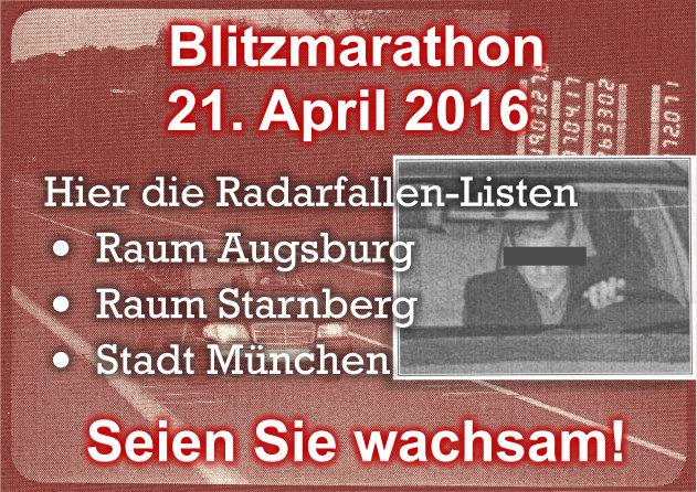 Blitzmarathon April 2016
